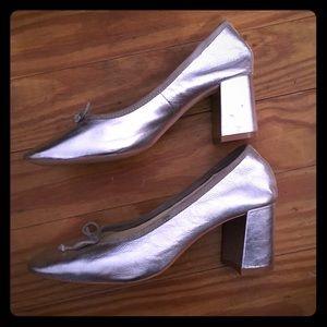 Zara silver heels